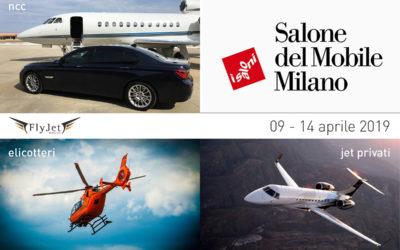 Salone del Mobile di Milano: jet privato, elicottero e noleggio con conducente