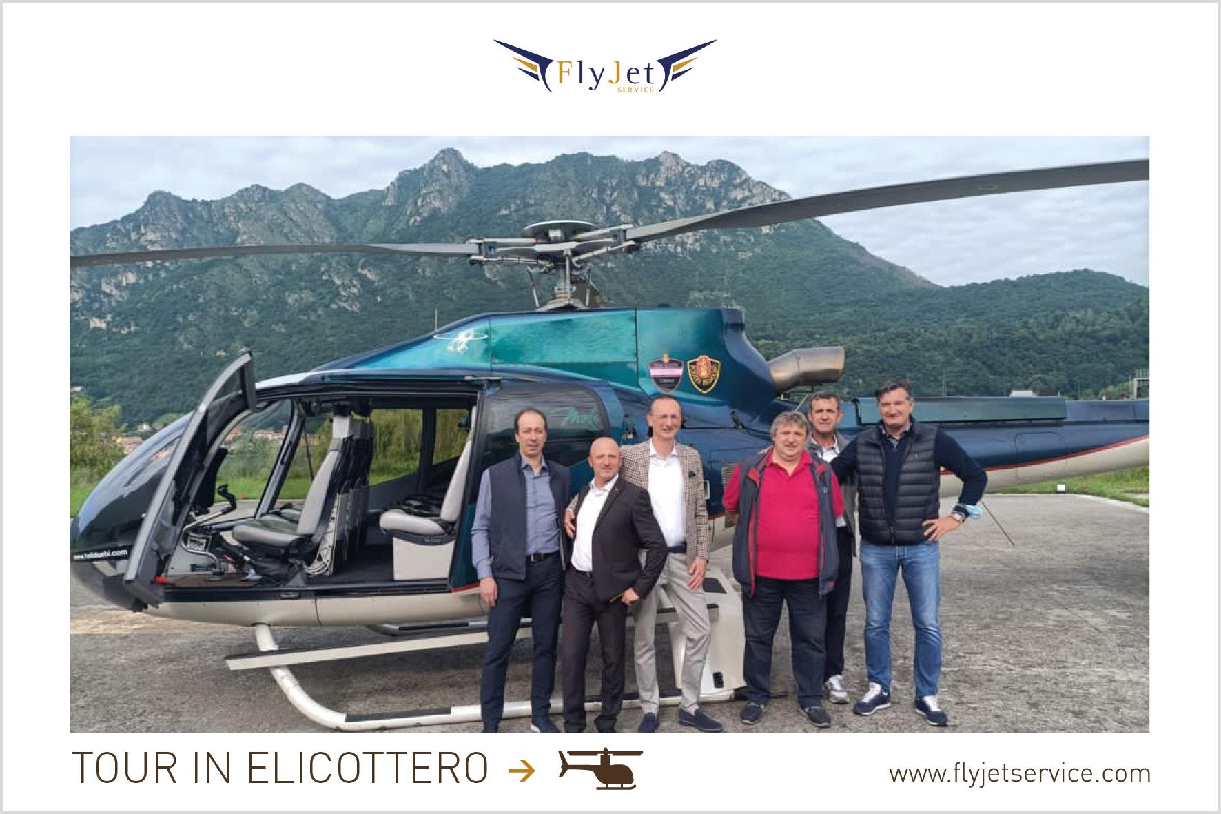 Tour in elicottero con sorvolo del Lago di Como, visita in cantina e pranzo all'Albereta. Fly Jet Service è a tua disposizione.